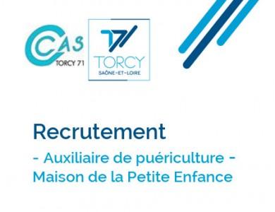 Mairie de Torcy - Recrutement // Auxiliaire de puériculture – Maison de la Petite Enfance