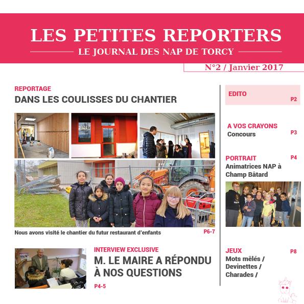 Les Petites reporters, Journal des NAP n°2 - janvier 2017