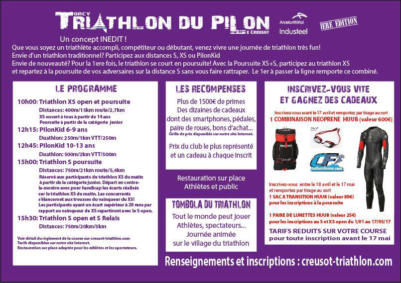 dimanche 21 mai triathlon du pilon ville de torcy 71. Black Bedroom Furniture Sets. Home Design Ideas