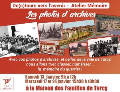 Agenda de Torcy - Atelier Mémoire «Photos d'archives»