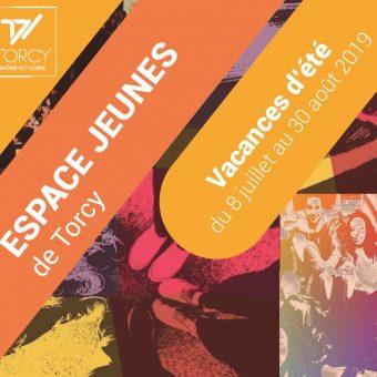 Ville de Torcy 71 - Le programme de l'Espace Jeunes – Vacances d'été 2019
