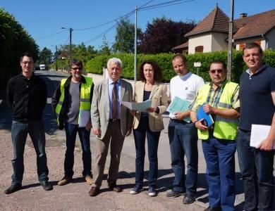 Mairie de Torcy - Renouvellement du réseau  d'eau potable– Promenade Paul Auguste Rey