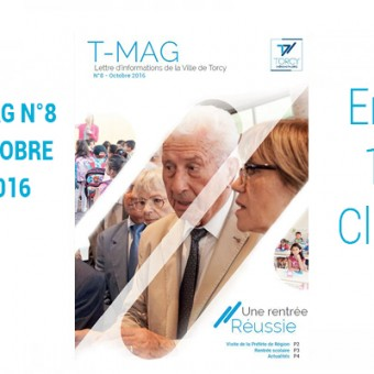 """Mairie de Torcy - TMAG n°8, Octobre 2016 // """"Une rentrée réussie"""""""