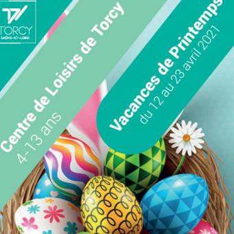 Ville de Torcy 71 - Les vacances de printemps,  au Centre de Loisirs