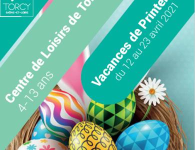Mairie de Torcy - Les vacances de printemps,  au Centre de Loisirs