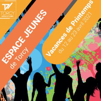 Ville de Torcy 71 - Programme de L'Espace Jeunes, vacances de printemps