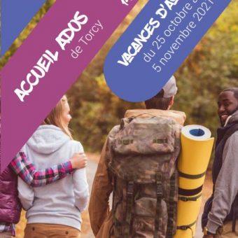 Mairie de Torcy - Programme de L'Espace Jeunes, vacances d'automne
